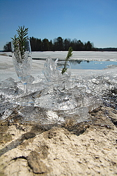 Glasses With Ice Royalty Free Stock Photo - Image: 5855345