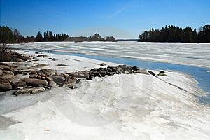 Frozen Lake Royalty Free Stock Photography - Image: 5855357