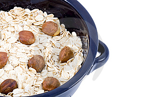 Bowl Of Oatmeal Royalty Free Stock Photo - Image: 5855475
