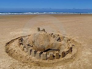 Sand Castle On Ocean Beach Stock Photo - Image: 5856220