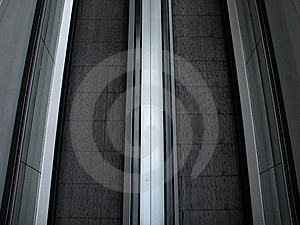 Black And Grey Escalator Royalty Free Stock Images - Image: 5860909