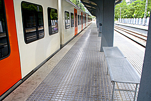 Train Stop Stock Images - Image: 5865084