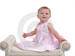 Smiling Baby Girl Stock Image
