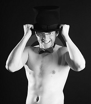 A Fellow Is Cylinder Hat Stock Images - Image: 5867214