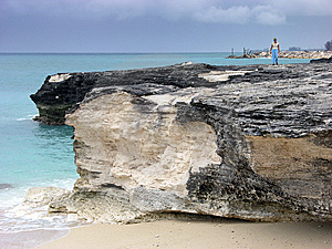 Walking On Eroded Beach Stock Images - Image: 5868054