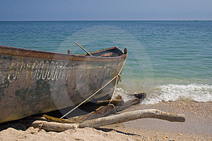 Fishing Boat On Beach Stock Photos - Image: 5871683