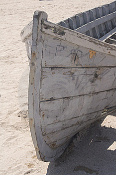 Fishing Boat On Beach Royalty Free Stock Image - Image: 5871806