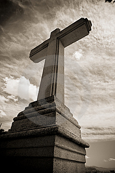 Stone Cross Stock Photo - Image: 5875010