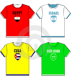 Graphic T Shirts With National Stock Image - Image: 5875581