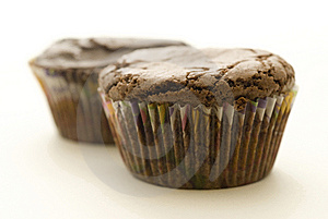 Two Brownie Cupcakes Royalty Free Stock Images - Image: 5875759