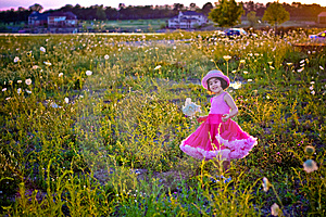 Child In A Flower Field Royalty Free Stock Images - Image: 5875959