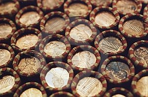 Pennies Royalty Free Stock Photos - Image: 5877178