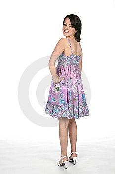Teen Looking Over Her Shoulder Stock Photography - Image: 5878732