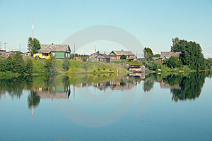 Village On The Bank Of The River Stock Images - Image: 5878824