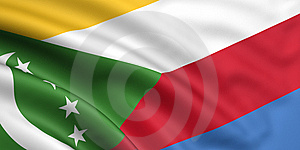 Flag Of The Comoros Stock Image - Image: 5883341