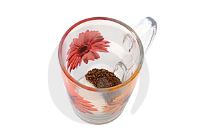 Instant Coffee And Sugar In Cup Royalty Free Stock Photo - Image: 5884055
