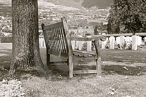 Cemtery Bench Stock Image - Image: 5884661