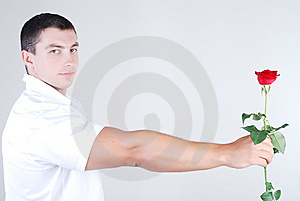 Athlete With Rose Stock Photo - Image: 5888160