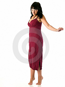 Young Beauty In Sun-dress Royalty Free Stock Photo - Image: 5892115