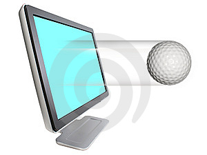 Golfball Leaving Royalty Free Stock Images - Image: 5893219