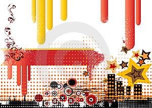 Grunge City Background Royalty Free Stock Photography - Image: 5894307