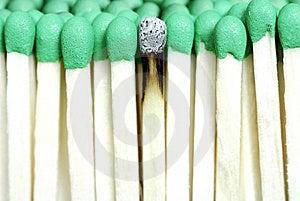 Matches Extreme Closeup Stock Image - Image: 5895451