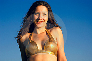 Smiling Woman In Bikini Stock Photos - Image: 5895593