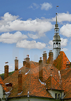Medieval Castle Roof Stock Images - Image: 5898584