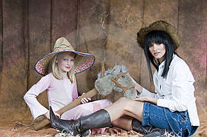 Cowgirl Collaboration Royalty Free Stock Photo - Image: 5899245