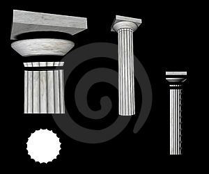 Doric Column Details Stock Images - Image: 5899274