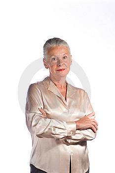Senior female executive Stock Photo