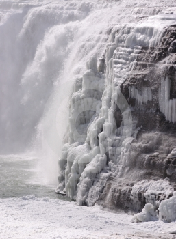 Frozen Falls Royalty Free Stock Images - Image: 591079