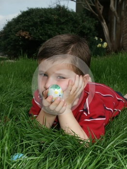 Boy With Eggs 7 Stock Photo - Image: 591410