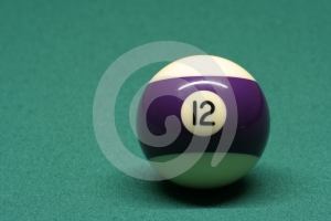 Poolbal Nummer 12 Stock Afbeelding - Afbeelding: 596541
