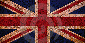 Rusty Flag Of Great Britain Stock Photos