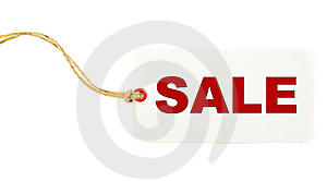 White Sale Tag Royalty Free Stock Image
