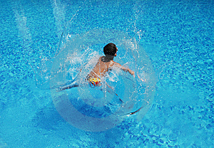 A Boy Splash Wave Royalty Free Stock Image - Image: 5902726