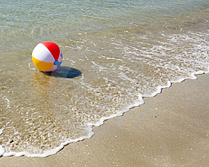 Colored beach ball Free Stock Images