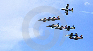 Frecce Tricolori Royalty Free Stock Photography - Image: 5904447