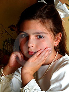 Pretty School Aged Girl Stock Photography - Image: 5909212