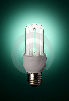 Green Florescent Light Bulb Stock Photo - Image: 5912430
