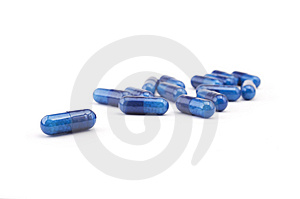 Group Of Blue Pills Stock Photography - Image: 5914982