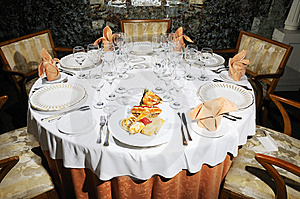 Restaurant Table Stock Photo - Image: 5916360