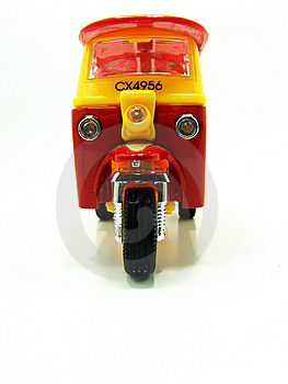 Red And Yellow Tuk-tuk Stock Photos - Image: 5916803