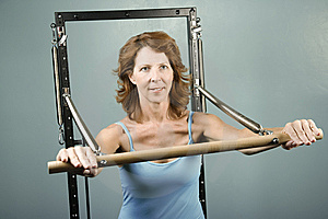 Woman Doing A Strength Workout Royalty Free Stock Photo - Image: 5922065