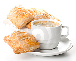Pie And Cup Of Coffee Stock Photos - Image: 5924253