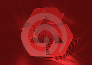 Red Recycle Stock Images - Image: 5925934