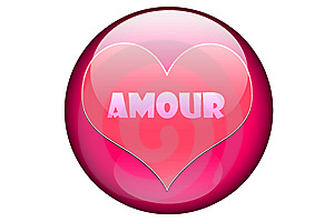 Amour In A Pink Glassy Orb Royalty Free Stock Photos - Image: 5927148