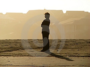 Silhouette Of A Woman Stock Photo - Image: 5929450