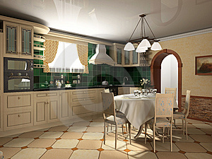 Interior of kitchen Royalty Free Stock Photos